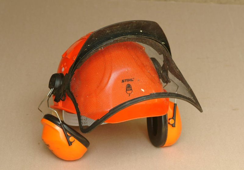 hard hat for tree work